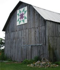Barn at Quaker Hill Farm, Alcona County Quilt Trail Project